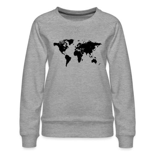 World Map - Frauen Premium Pullover