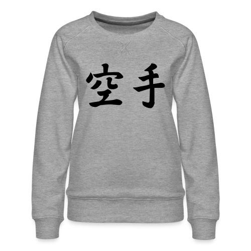 karate - Vrouwen premium sweater