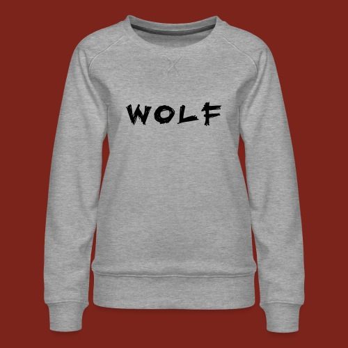 Wolf Font png - Vrouwen premium sweater