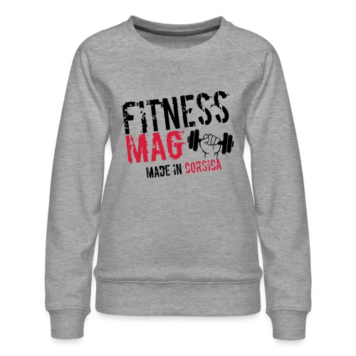 Fitness Mag made in corsica 100% Polyester - Sweat ras-du-cou Premium Femme