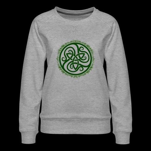 Green Celtic Triknot - Women's Premium Sweatshirt