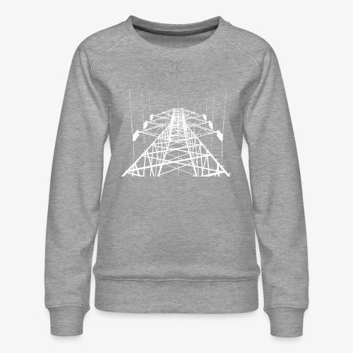 Strommast weiß - Frauen Premium Pullover