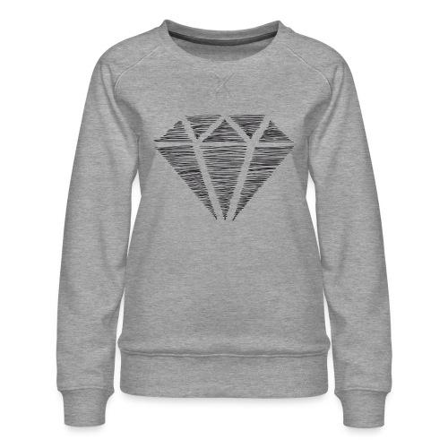 Diamante - Sudadera premium para mujer