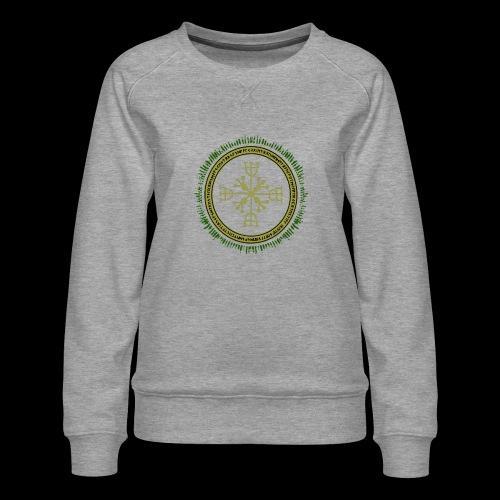 Norse Runes with Aegishjalmur 2017 - Women's Premium Sweatshirt