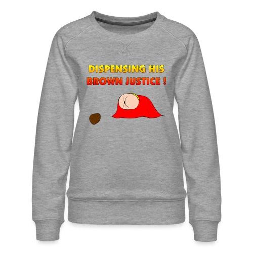Flying Bum (diagonal) - with text - Women's Premium Sweatshirt