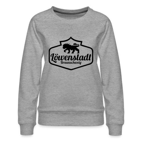 Löwenstadt Design 1 schwarz - Frauen Premium Pullover