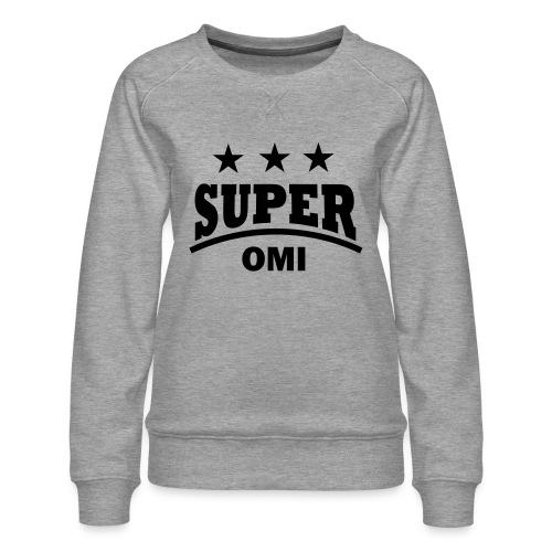 cool super omi raster - Vrouwen premium sweater