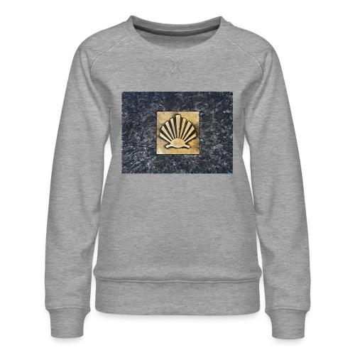 Scallop Shell Camino de Santiago - Women's Premium Sweatshirt