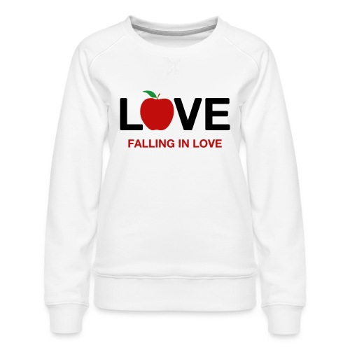 Falling in Love - Black - Women's Premium Sweatshirt