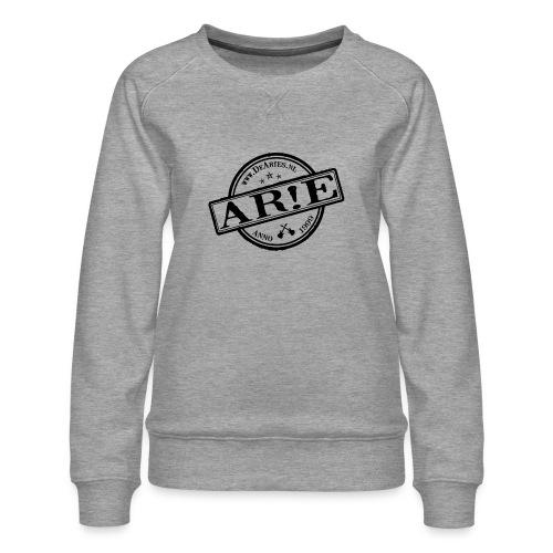 Backdrop AR E stempel zwart gif - Vrouwen premium sweater