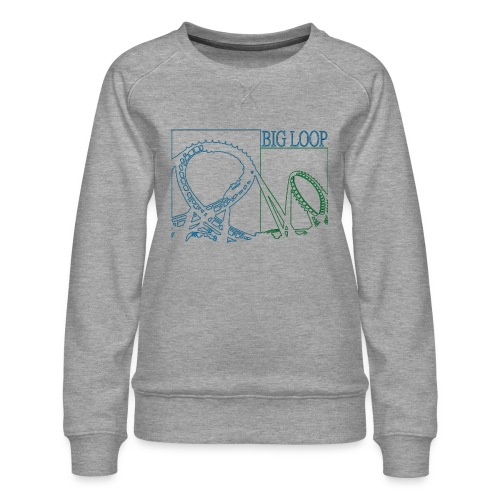 big_loop_coaster_shirt_line - Frauen Premium Pullover