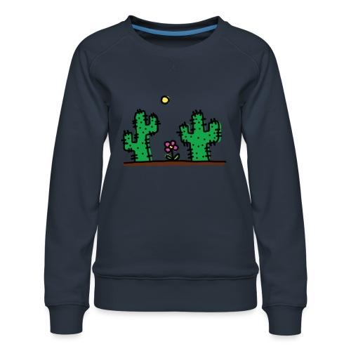 Cactus - Felpa premium da donna