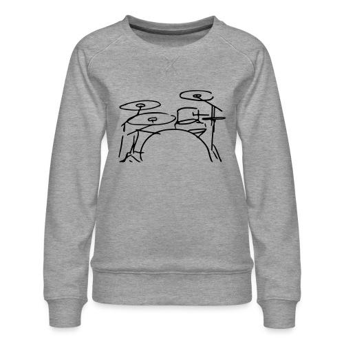 Drumset - Frauen Premium Pullover