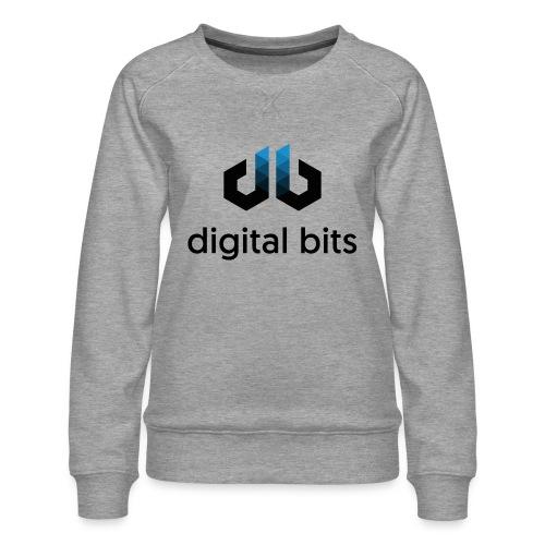 digitalbits Logo mit Schriftzug - Frauen Premium Pullover
