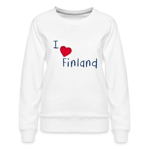 I Love Finland - Naisten premium-collegepaita