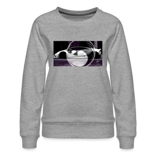 lion black lyon design - Women's Premium Sweatshirt