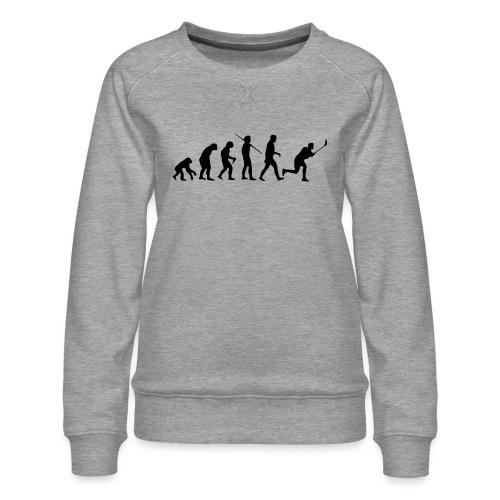 Floorball Evolution Black - Frauen Premium Pullover