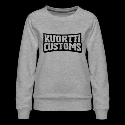 kuortti_customs_logo_main - Naisten premium-collegepaita