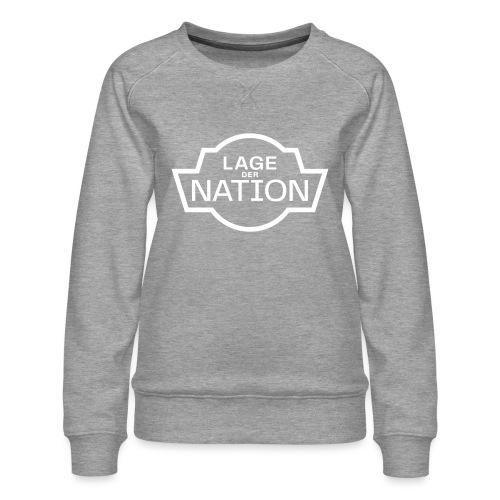 ldn logo white outline cmyk - Frauen Premium Pullover