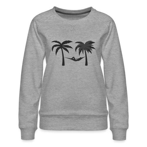 Hängematte mitzwischen Palmen - Frauen Premium Pullover
