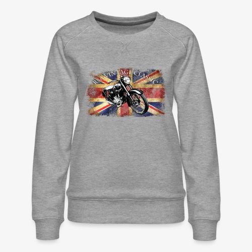 Vintage famous Brittish BSA motorcycle icon - Women's Premium Sweatshirt