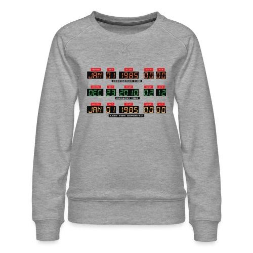 Back To The Future DeLorean Time Travel Console - Women's Premium Sweatshirt