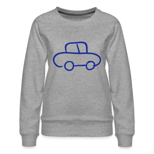 Van Line Drawing Pixellamb - Frauen Premium Pullover