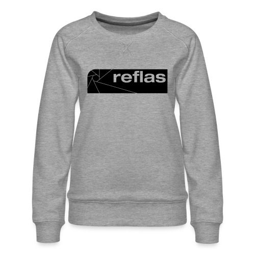 Reflas Clothing Black/Gray - Felpa premium da donna