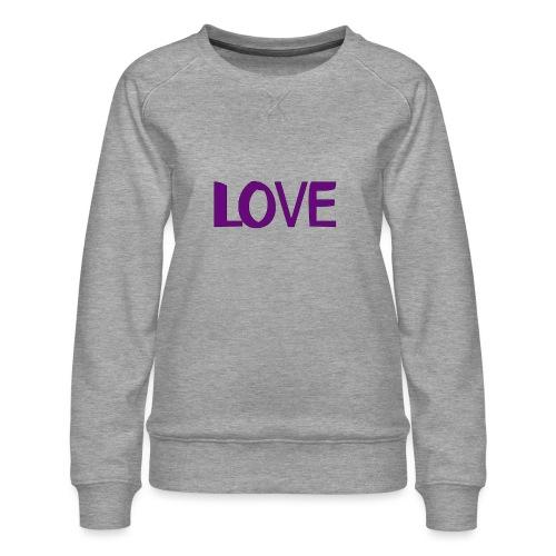 love 1 - Sudadera premium para mujer