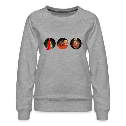 Pinup your Life - Xarah as Pinup 3 in 1 - Women's Premium Sweatshirt