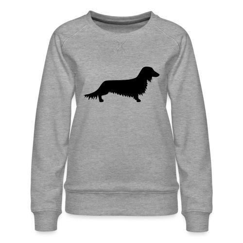 Langhaardackel - Frauen Premium Pullover
