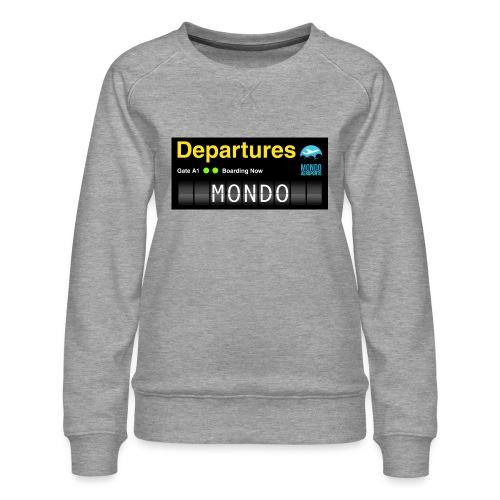 Departures MONDO jpg - Felpa premium da donna