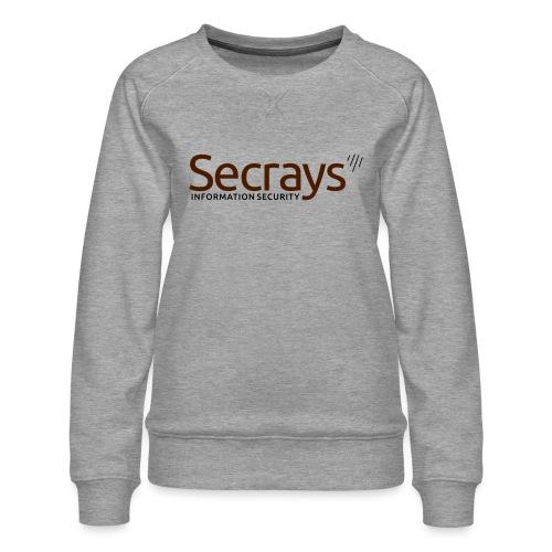 Secrays vektori logo - Naisten premium-collegepaita