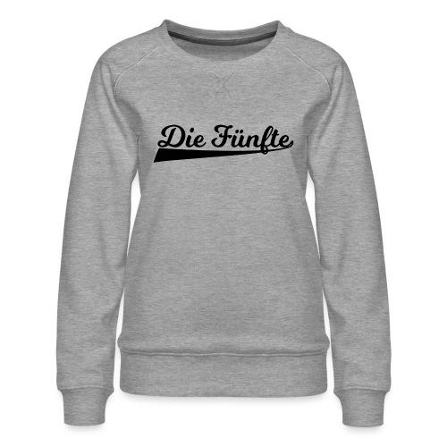 Die Fünfte Retro - Schwarz - Frauen Premium Pullover