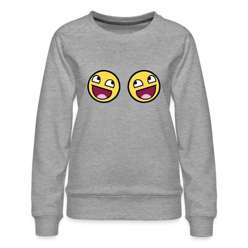 Boxers lolface 300 fixed gif - Women's Premium Sweatshirt
