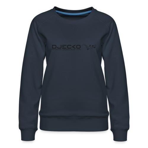 Logo rect noir txt et gecko - Sweat ras-du-cou Premium Femme