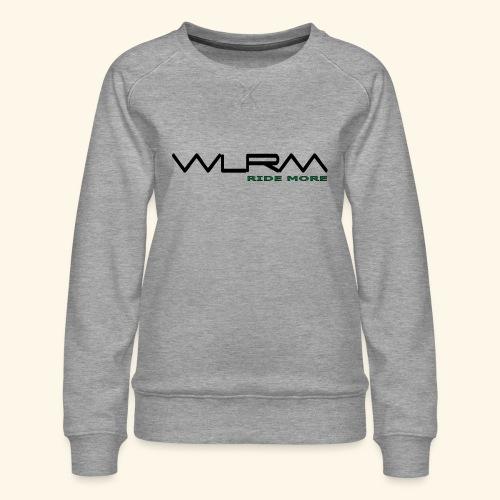 WLRM Schriftzug black png - Frauen Premium Pullover