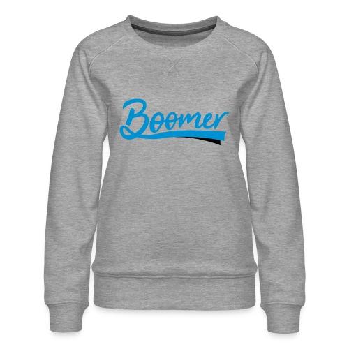 Boomer - 2 color text - diy - Naisten premium-collegepaita