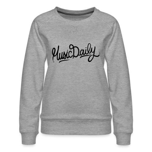 MusicDaily Logo - Vrouwen premium sweater