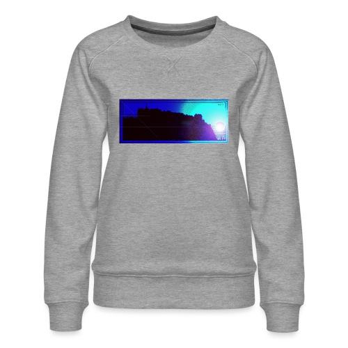 Silhouette of Edinburgh Castle - Women's Premium Sweatshirt