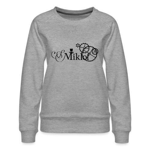 miklof logo black 3000px - Women's Premium Sweatshirt