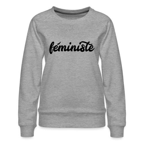féministe - Sweat ras-du-cou Premium Femme