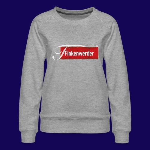 HANBURG. Finkenwerder Schild mit Initial - Frauen Premium Pullover