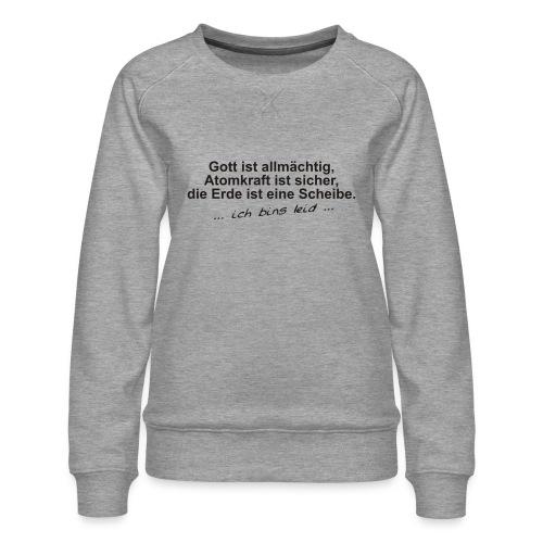 gottistallmaechtig - Frauen Premium Pullover