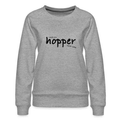 MuchoHop Hop On/Off (black) - Sudadera premium para mujer