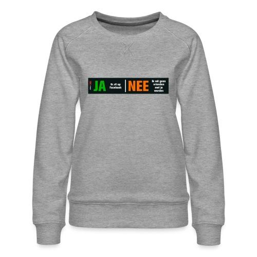facebookvrienden - Vrouwen premium sweater
