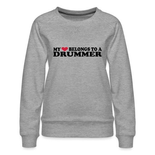 MY HEART BELONGS TO A DRUMMER - Premium-genser for kvinner