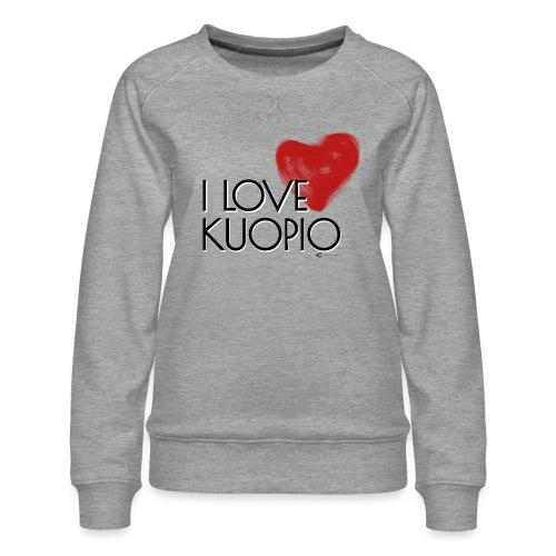 I LOVE KUOPIO 2020 - Naisten premium-collegepaita