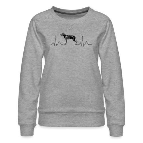 ECG met hond - Vrouwen premium sweater