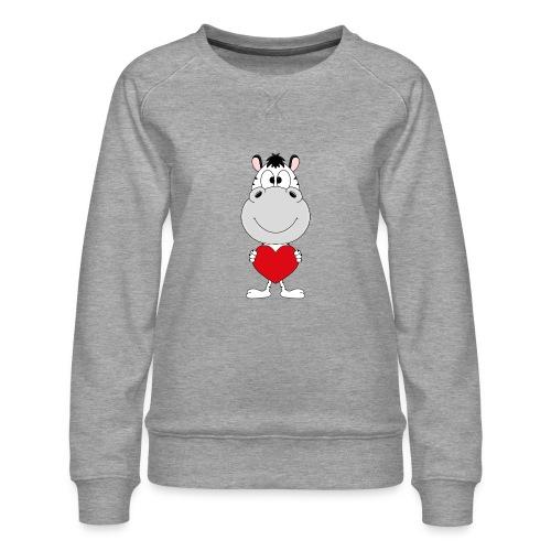 ZEBRA - HERZ - LIEBE - LOVE - TIER - KIND - BABY - Frauen Premium Pullover